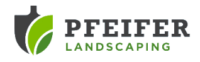 pfeifer landscaping logo in grey and green